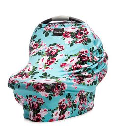 Blue & Pink Sweet Water Rose Multi-Function Car Seat Cover