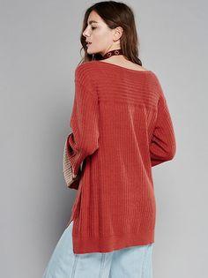 FP Brick Lane Bell-Sleeve V-Neck Top (Sienna)