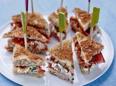 Mini-clubs sandwichs au jambon cru - Recettes