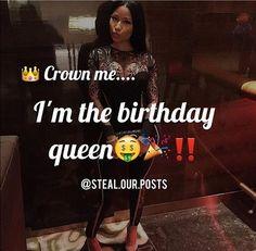 Happy Birthday To Me Quotes, Birthday Month Quotes, Its My Birthday Month, Birthday Goals, 18th Birthday Party, Happy Birthday Images, Birthday Ideas, Birthday Post Instagram, Birthday Captions