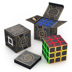 3x3x3 Carbon Fiber Sticker Speed Cube | aGreatLife