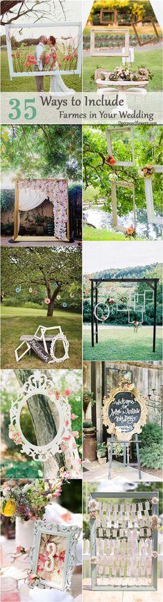 Vintage frame wedding decor ideas