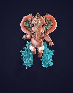 Ganesha - Vijay Arumugam Ganesha Painting, Ganesha Art, Lord Ganesha, Shri Ganesh Images, Ganesha Pictures, Ganpati Drawing, Hanuman Pics, Mahakal Shiva, Lord Shiva