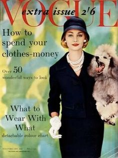 Vogue UK-February 1959 by Fashion Covers Magazines, via Flickr