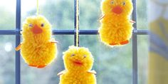 Pompom Easter chicks