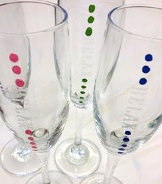 Etched and painted wine glasses Wine Glass Sayings, Painted Wine Glasses, Creating A Blog, Studio, Tableware, Dinnerware, Tablewares, Studios, Dishes
