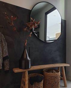 Black Hallway, Small Office Design, Bench Decor, Interior Garden, Room Ideas Bedroom, Cozy House, Ikea, Entryway Decor, Future House