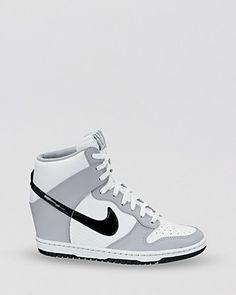 Nike Lace Up High Top Wedge Sneakers - Women's Dunk Sky Hi