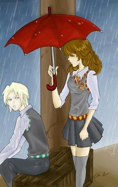 hermione and draco fan art by tammie