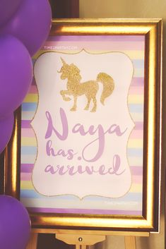 Sparkle Unicorn Baby Shower Party Unicorn Baby Shower Decorations, Baby Shower Favors, Shower Party, Baby Shower Parties, Baby Shower Themes, Baby Shower Invitations, Baby Shower Gifts, Shower Ideas, Welcome Baby Party