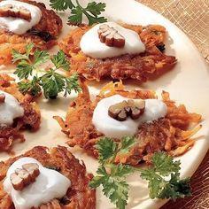 Sweet Potato Mini-Latkes #holiday #party #treats #hanukkah #party