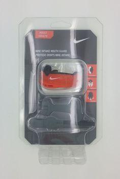 NIKE ADULT INTAKE MOUTH GUARD FIT PROTECT BREATHE ORANGE/BLACK (ADULT) -- NEW #Nike