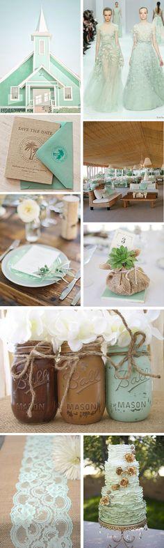 Mint and Burlap Destination Wedding Details | The Destination Wedding Blog - Jet Fete by Bridal Bar