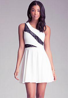 One Shoulder Flare Dress