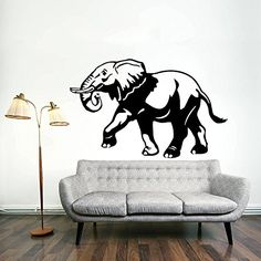 Wall Decals Elephant Animals Jungle Safari African Kids Children Nursery Baby Bathroom Vinyl Sticker Wall Decor Murals Wall Decal: Amazon.co.uk: Kitchen & Home