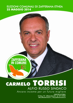 I nostri Candidati: Carmelo Torrisi #ZafferanainComune #AlfioRussoSindaco
