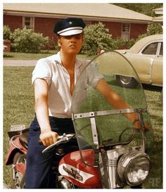 Elvis and his Harley
