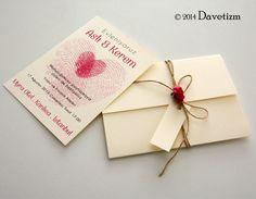 Davetizm, Düğün Davetiyesi, R03, Romance, Davetiye Seti, Tasarım, Wedding, Invitation, Design, Romatizm, Parmak İzi, Fingerprints, Güller, Roses, Kağıt Çiçek, Flower