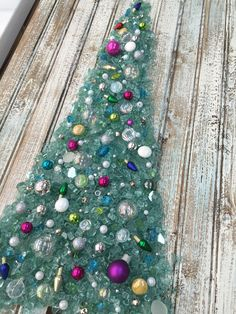 Crushed glass Christmas tree. Art Shattered located in 44 Marketplace, Eatonton, GA