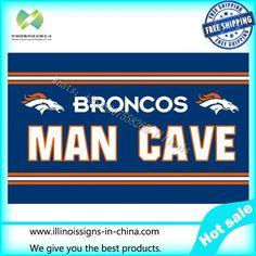 3x5FT NFL flag Denver Broncos Huge Licensed Man Cave Flag / Banner 100D digital printing