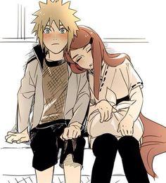 Minato e Kushina♥♥ fofos demais