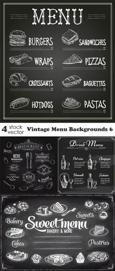 Vectors - Vintage Menu Backgrounds 6