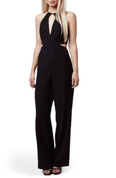 Topshop Cutout Flare Leg Jumpsuit available at #Nordstrom