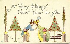 "Mfg. F.A. Owen, Co.  Circa: Postmarked December 30, 1913  Series No. 88c  Postcard reads: ""A Very Happy New Year to you""."