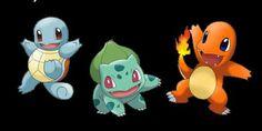 Os Pokémons iniciais da região de Kanto!