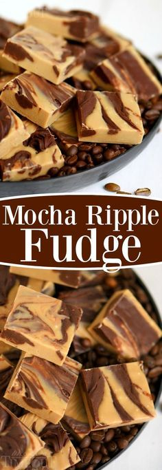 This EASY Mocha Ripple Fudge tastes just minutes to prepare! This decadent treat is wonderful for the holidays and packaged in a festive tin, will make a sweet gift for the coffee lover in your life! | eBay
