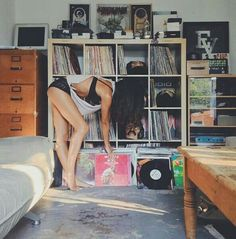 The record collection and the girl .