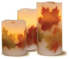 Loft Living 3-Piece Flameless LED Harvest Pillar Candles Love LED candles=great invention! #ShopStyleCollective #FallDecor http://shopstyle.it/l/i9LH