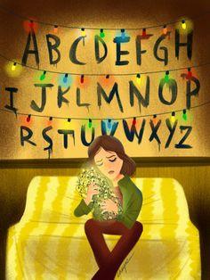 """Some fan art of """"Stranger Things"""" on Netflix. artbycheyne.tumblr.com"""