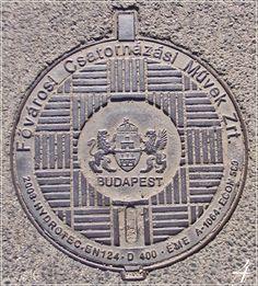 csatornafedél Práter utca - manhole cover Práter street - Budapest