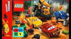 Cars 3 Disney Pixar Lego Juniors Lightning McQueen Cruz Ramirez Cartoon for Kids Ramirez Cartoons, Cruz Ramirez, Lego Juniors, Lightning Mcqueen, Cartoon Kids, Disney Pixar, Cars, Autos, Vehicles