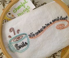 Instant Download PDF Hand Embroidery Pattern Smile by Thimblegirls