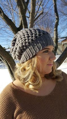 Puff Beanie by MissFrecklesCrochet on Etsy