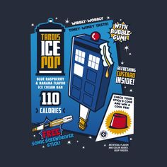 Tardis Ice Pop by olipop