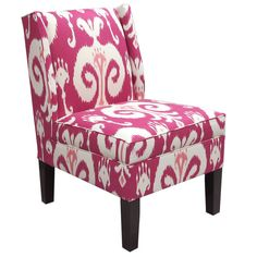 Himalaya Wingback Chair - a pop of pink!
