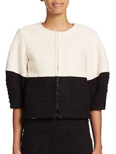 Alice + Olivia - Odele Colorblock Tweed Jacket