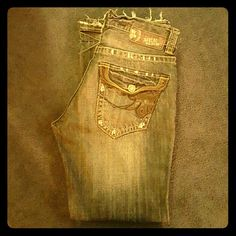 Men's MEK jeans Nice jeans for your man! Slight wear on  bottoms but excellent condition other than that. Bottom pockets MEK Jeans Boot Cut