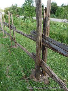 Faire une clôture avec des perches - Perches à vendre - Pieux de cèdre à vendre. Voir : http://www.france-jardinage.com/cloture/cloture-perches-3.html
