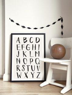 poster kinderzimmer einfarbig schule basteln abc poster beschriftung typografie kunstdrucke papier - Kinderzimmer Dekoration In Schulen