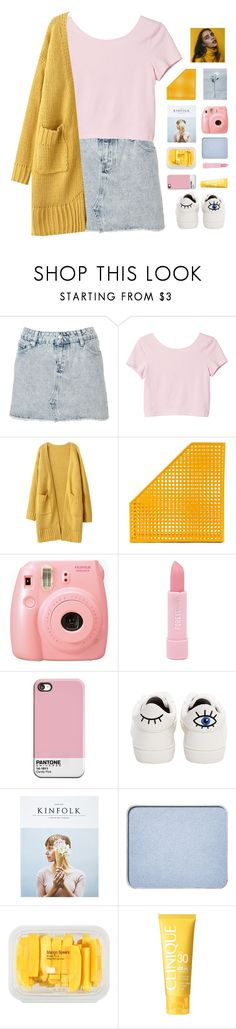 """gintare's set challenge (pt. 1)"" by via-m ❤ liked on Polyvore featuring Monki, Dot & Bo, Fujifilm, Forever 21, Betsey Johnson, Kinfolk, shu uemura, MANGO, Clinique and gintaresetchallenge"
