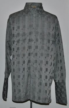 J. Vital Shirt XL Gray Plaid Polyester French Cuffs Long Sleeve Point (Straight) #JVital free shipping auction starting at $12.99