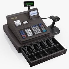 3D Model Cash Register Sharp Er A347 - 3D Model