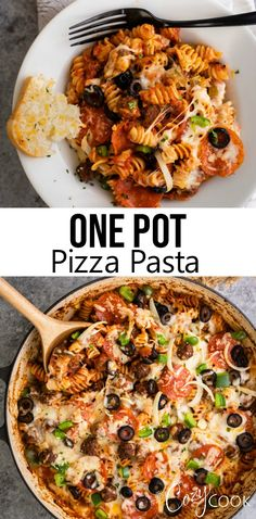 This Pizza Pasta will quickly become your favorite easy one pot meals! Customize it with your favorite pizza toppings anything goes! The post One Pot Pizza Pasta appeared first on Tasty Recipes. One Dish Meals Tasty Recipes One Pot Dinners, Easy One Pot Meals, Easy Dinner Recipes, Pasta Recipes, Cooking Recipes, Quick Dinner Meals, Easy Pasta Meals, Pasta Facil, One Pot Pasta