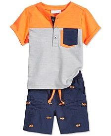 First Impressions Baby Boys& Henley Shirt & Shorts Set, Only at Macy. - Macy's - - First Impressions Baby Boys& Henley Shirt & Shorts Set, Only at Macy. Baby Outfits, Outfits Niños, Toddler Boy Outfits, Kids Outfits, Baby Boy Fashion, Toddler Fashion, Kids Fashion, Kids Clothes Sale, Baby Kids Clothes