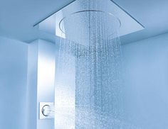 Discreet luxury ! Grohe Rainshower® F-Series Digital.  Wonder if this will fit with my low ceiling?
