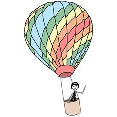 Eloise takes a ride in a hot air balloon Art Print by flapper doodle   Society6